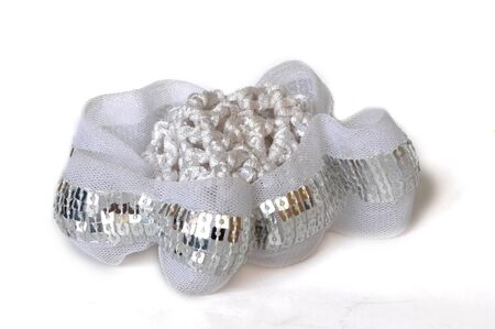 scrunchy: light scrunchy, isolated on a white background Stock Photo