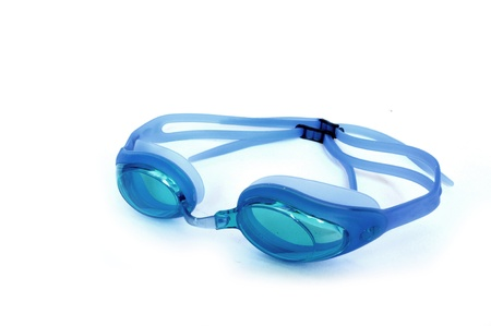 Goggles for swimming isolated on white background Standard-Bild