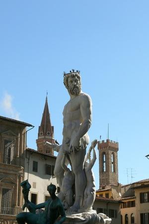 fontana: Fontana di Neptune at Florence Italy