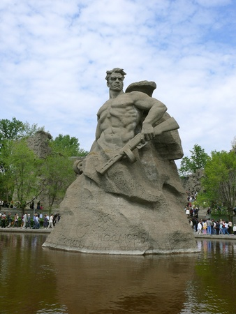Monument Stay to Death in Mamaev Kurgan, Volgograd, Russia Stock Photo - 13266765