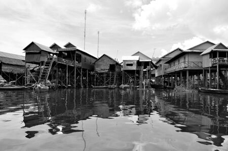 lifestyle of people in tonle sap lake, Cambodia