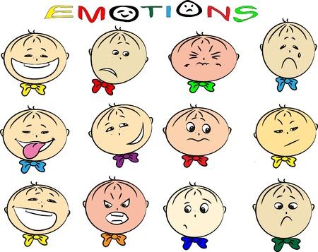 occhi tristi: illustrazione vettoriale di bambini Vettoriali