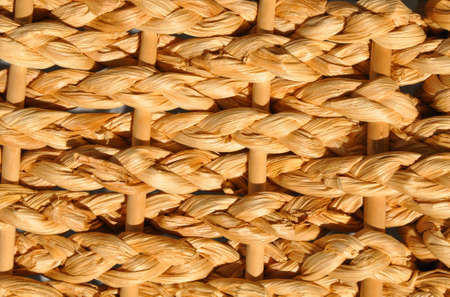 criss: Abstract decorative wooden textured basket weaving background. Stock Photo
