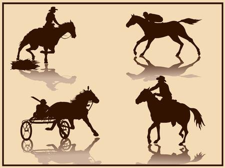 decathlon: horse vector silhouette Illustration