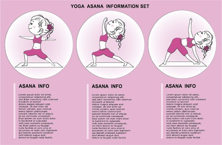 oriental medicine: Yoga Info graphic Illustration