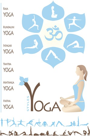 Yoga Info graphic Vector