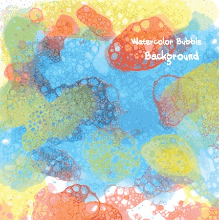 bubble background: Vector hand drawn watercolor bubble background for you design. Abstract Vettoriali