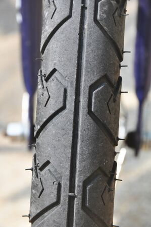 btt: part of the tire on a bicycle