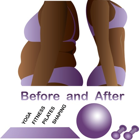 Womans body before and after fitness,yoga. Cellulite versus smooth skin. Cellulite, Fat on belly.