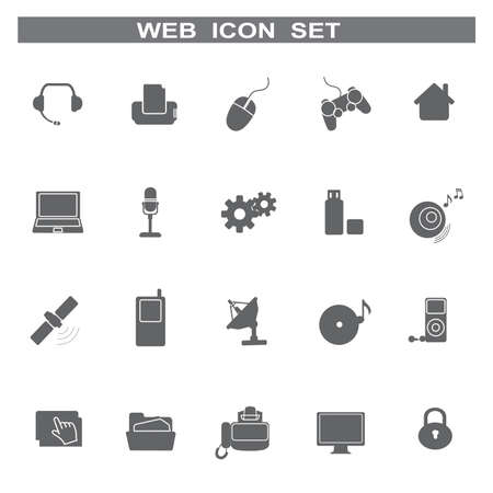 Web icons for business and communication, vector Vector