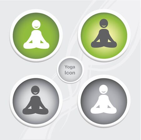 Health and Fitness icons set - yoga icon Illustration