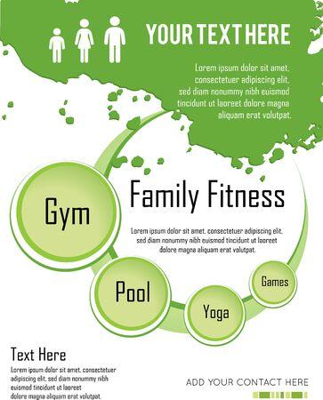 family fitness: family fitness  infographic design, vector illustration Illustration