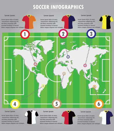 crossbars: Soccer infographics elements infographic vector