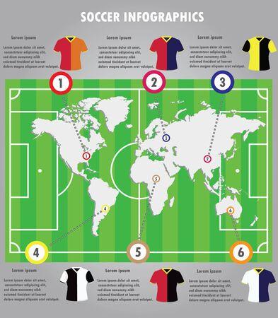 crossbars: Soccer infographics elements infographic vector