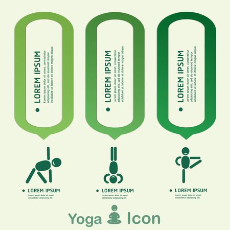 budda: Yoga Healthy lifestyle infographic, vector