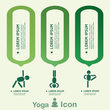 budha: Yoga Healthy lifestyle infographic, vector