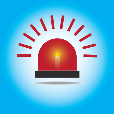 emergency light: Siren Red Flashing Emergency Light