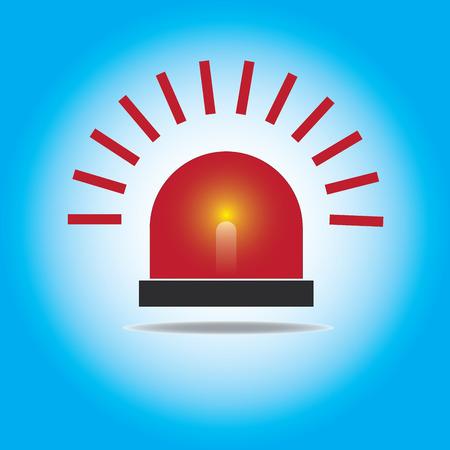 Siren Red Flashing Emergency Light