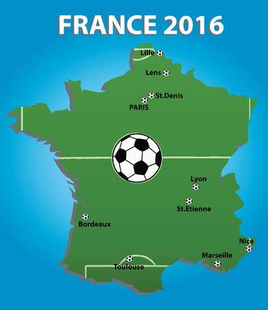 soccer stadium: France soccer stadium map