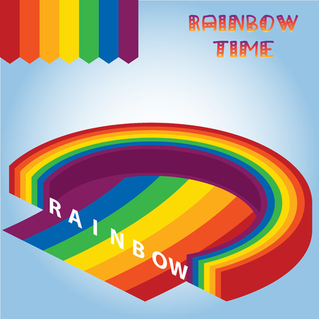 rainbow background: isometric rainbow background vector
