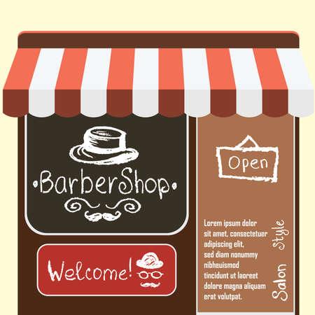 affairs: Vector flat  illustration barber shop