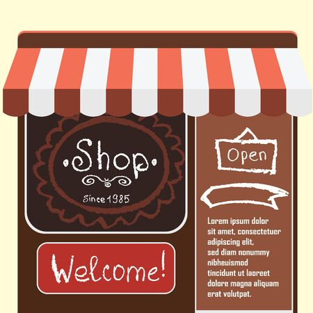small business: Vector flat modern illustration  small shop and store ,Different small business stores and shops