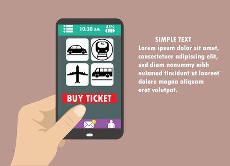 tecnologia comunicacion: Ilustraci�n vectorial de estilo Dise�o plano del smartphone moderno con iconos de entrega en la pantalla. Cerca de campo concepto de la tecnolog�a de comunicaci�n