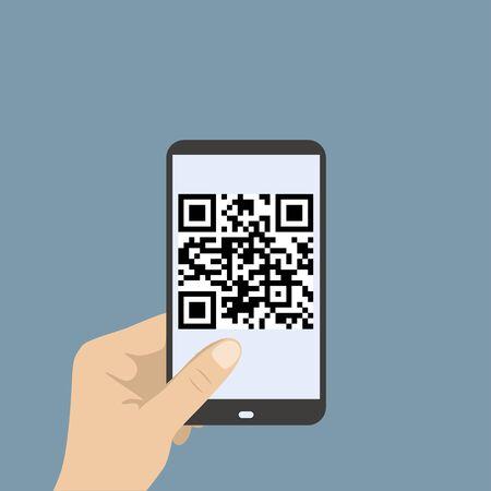 Mobile smartphone qr code vector illustration Vector