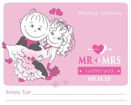 loving couple: loving couple , wedding invitation,vector illustration. Illustration