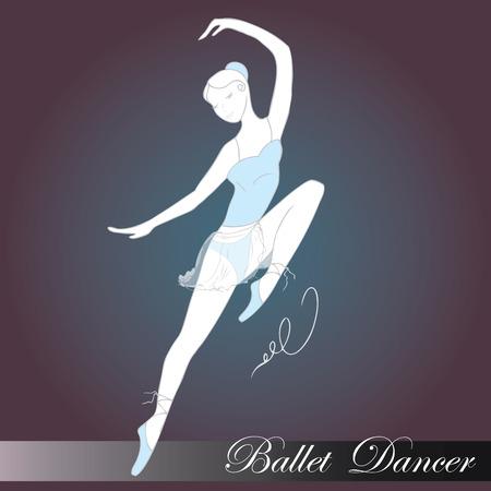lyrical: ballet dancer, hand drawn , vector illustration Illustration