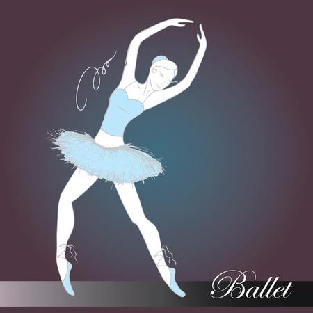 lyrical dance: ballet dancer, hand drawn , vector illustration Illustration