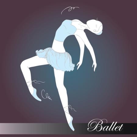 ballet dancer, hand drawn , vector illustration Illustration