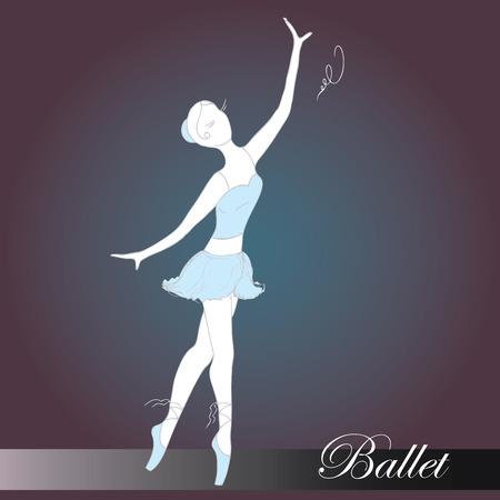 ballet dancer, hand drawn, vector illustration