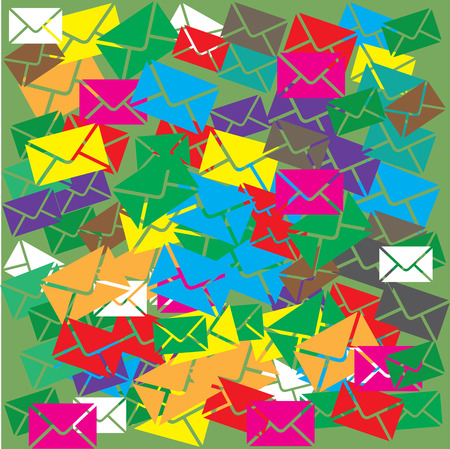 email or sms background concept, vector illustration Vector