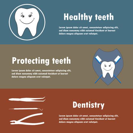 gimlet: Background or banner, teeth, dental instruments, dental care.
