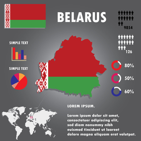 belarus: belarus Country Infographics Template Vector