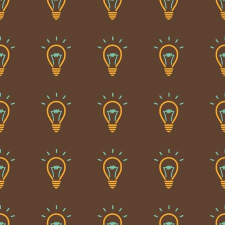 light bulb, idea symbol Seamless pattern . Seamless pattern can be used for wallpaper, pattern fills, web page backgrounds, surface textures. Vector