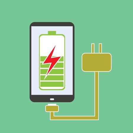 장 전기: rechargeable smart phone, the charger, the vector
