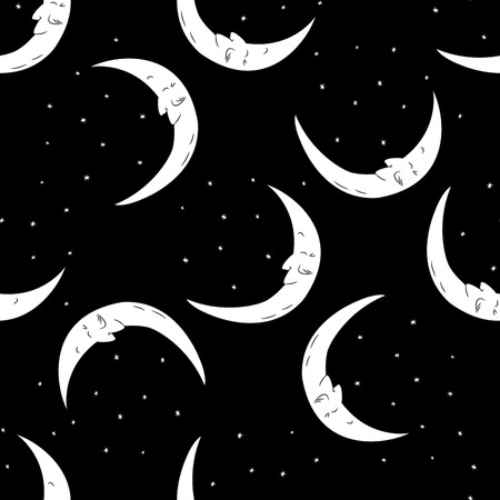 Seamless pattern moon and stars  . Seamless pattern can be used for wallpaper, pattern fills, web page backgrounds, surface textures.