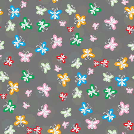 manic: Seamless pattern of colorful butterflies