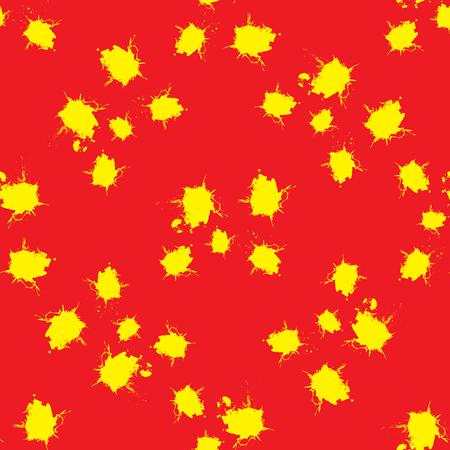 blots: Seamless pattern yellow blots Illustration