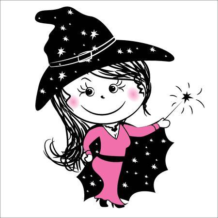 fairy: enchantress, fairy, vector illustration