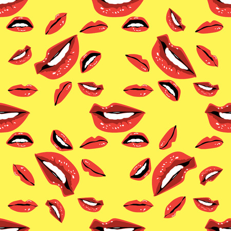 lust: Lips Seamless pattern  .Seamless pattern can be used for wallpaper, pattern fills, web page backgrounds, surface textures. Illustration