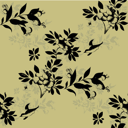 white stockings: Floral Seamless pattern  .Seamless pattern can be used for wallpaper, pattern fills, web page backgrounds, surface textures. Illustration
