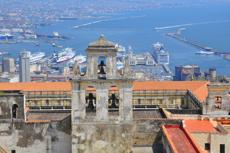 Napoli: Scenic picture-postcard view of the city of Napoli (Naples)  Campania, Italy