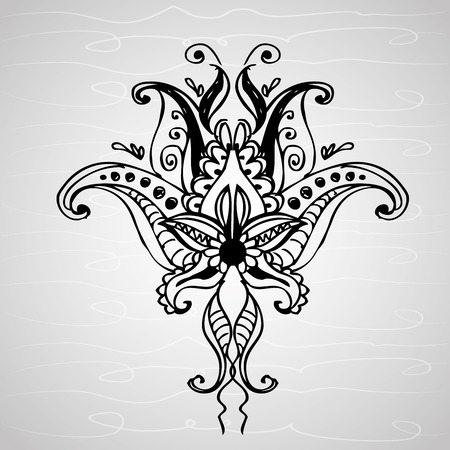 paisley ornament, hand drawing , vector illustration Illustration