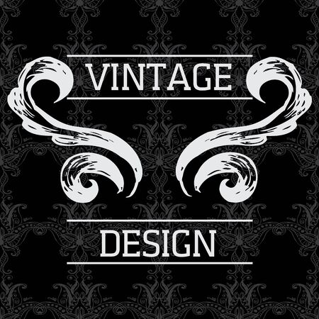 a charming: Elegant vintage card with seamless background, vector