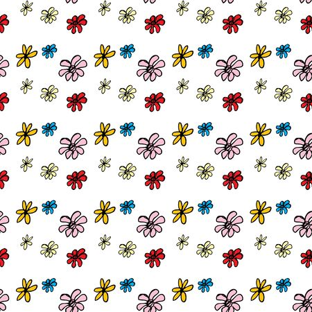heyday: Seamless pattern flower on white. Hand drawing.Seamless pattern can be used for wallpaper, pattern fills, web page backgrounds, surface textures Illustration