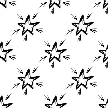 fills: Seamless pattern hand-drawn star.Seamless pattern can be used for wallpaper, pattern fills, web page backgrounds, surface textures