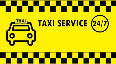 business card: Taxi business card, vector illustration